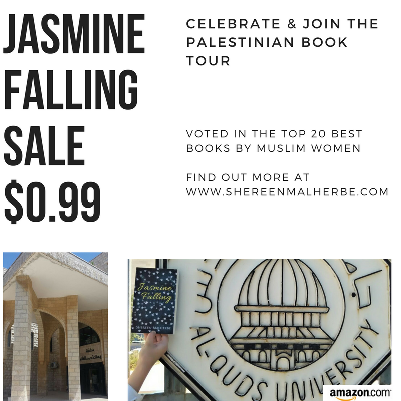 To celebrate the Palestinian Book Tour, Jasmine Falling is on sale now for $0.99